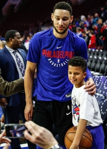2018 Ball boy with Ben Simmons