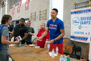 Ben Simmons giving overnight campers autographs!