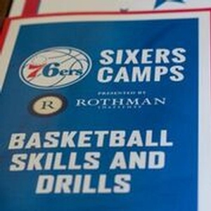 Sixers Camps skills and drills booklet presented by Rothman.