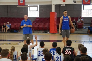 Ben Simmons visits Sixers Camps