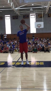 Ben Simmons was a guest speaker at the overnight camp.