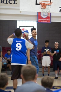 Camper passes to Markelle Fultz