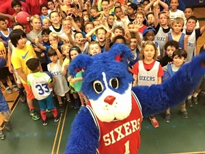 Always a fun time when Franklin The Dog visits Sixers Camps!