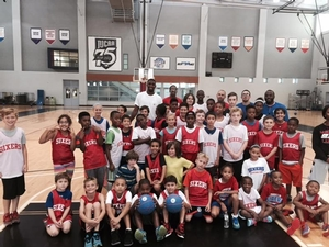 Hollis Thompson 2015 Sixers Day Camp at CCP.
