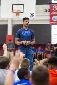 Fultz speaks to overnight campers
