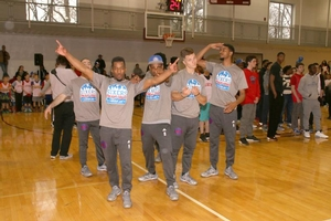 Sixers Flight Squad brought their A game to the private team practice!
