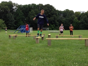 Camper obstacle course race
