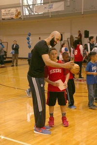 Kendall Marshall taking a selfie with camper!