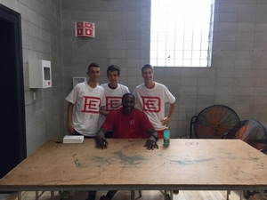 76er Elton Brand stopped by camp to speak with the campers, teach some drills, and sign autographs!