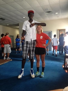 Camper Fred and one of our Athletic Training interns