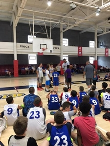 Okafor speaks to overnight campers