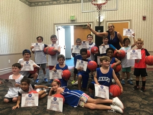 Little Sixers at the Katz JCC with their certificates.