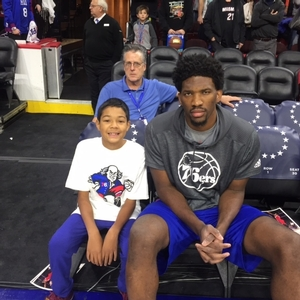2017 Ball boy with Joel Embiid