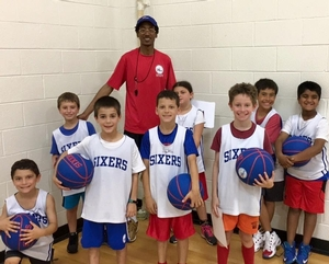 Having a good time at Sixers Camp