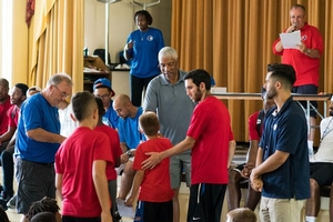 Dr.J handed out awards to the overnight campers!