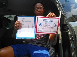 Great work Makai! Received the Sixers Camps ?#?Defense? Award at the overnight camp! Thanks for sharing with us!