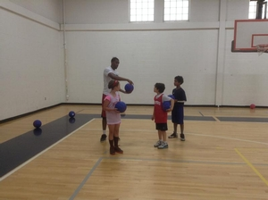 Hollis Thompson stopped by camp and gave some pointers