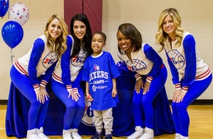 Sixers Dancers with camper