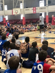 76er, Shake Milton answers overnight camper's questions.