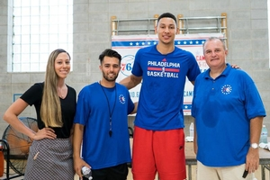Ben Simmons and the Sixers Camps staff.