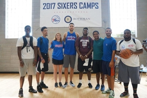 Ben Simmons and camp staff