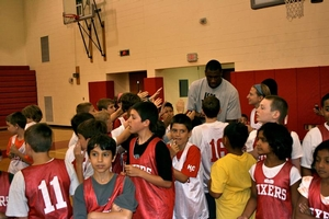 Thaddeus Young meets the campers