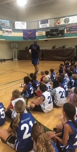 Tim Perry gives a great speech to the Sixers day campers.