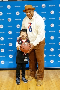 WORLD B. FREE WITH SIXERS CAMPER